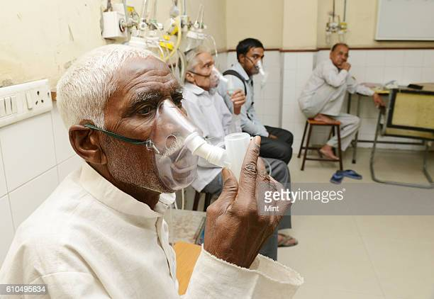 The picture featuring TB Patients in Patel Chest Hospital on May 29 2013 in New Delhi India