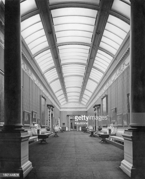 The Picture Gallery at Buckingham Palace in London housing many artworks of the Royal Collection 21st August 1947