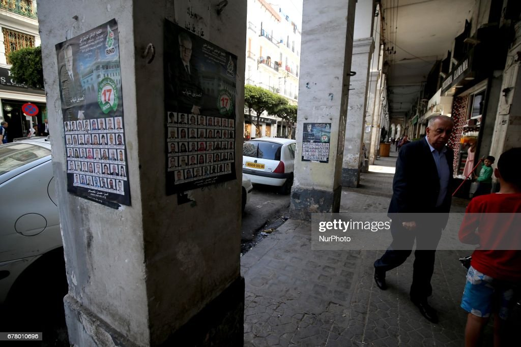 Election campaign posters in Algeria : News Photo