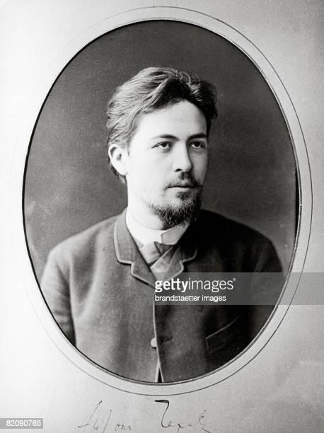 The picture shows a portrait of Anton Tschechow a russian writer novellist and dramatist Russia Photograph 1888 [Das Bild zeigt ein Portrait von...