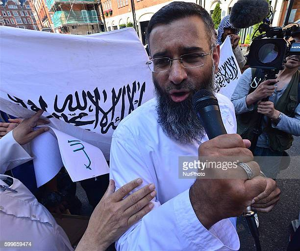 The picture taken on July 2013 shows Anjem Choudry the radical preacher who has been an outspoken supporter of Islamic State in his speeches in the...