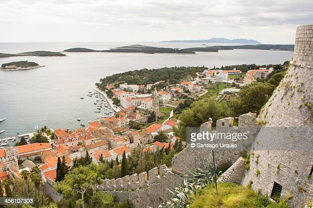 The picturesque city of Hvar in the Adriatic Sea