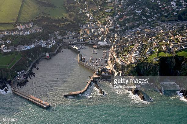 The picturesque fishing port and town of Mevagissey Near St Austell on 31st October 2008