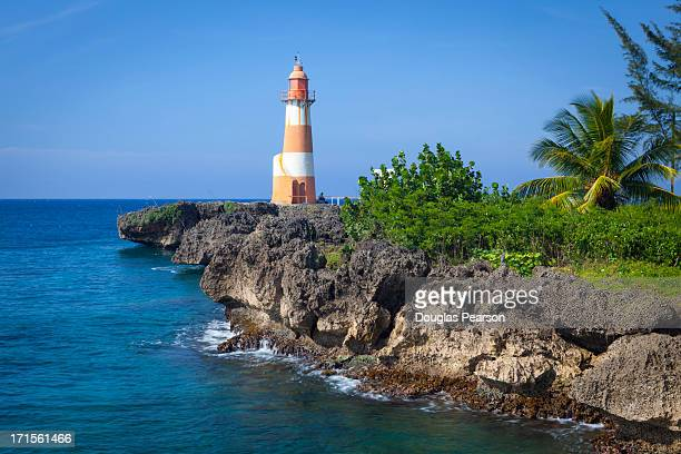 The picturesque Folly Point Lighthouse, Jamaica