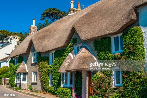 The picturesque village of St Mawes on the Roseland Peninsula near Falmouth in Cornwall England UK