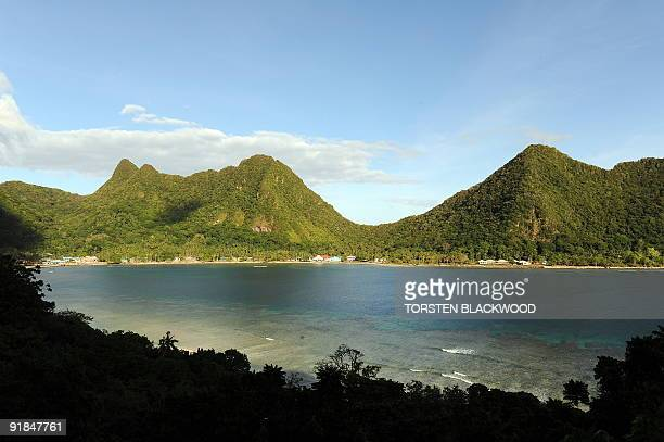 The picturesque village of Vatia is surrounded by national park in American Samoa on October 3 2009 The village lines a coralfringed bay which is...