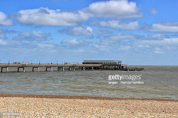 the pier at deal, kent - deal england stock photos and pictures