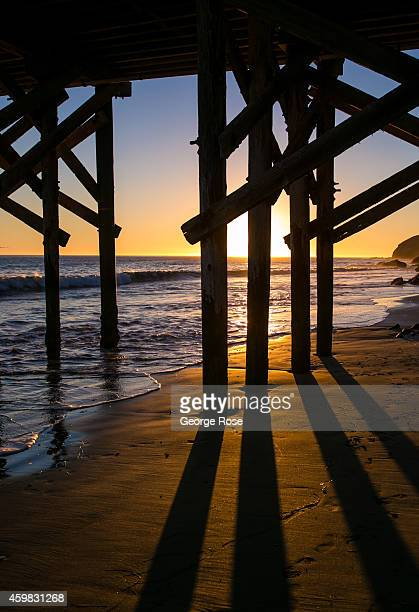 The pier at Gaviota State Beach is viewed at sunset on November 26 in Santa Barbara California Because of its close proximity to Southern California...