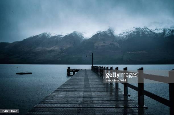 Die Pier in Glenorchy, Otago, Neuseeland