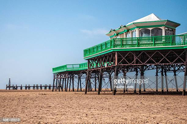 the pier at st anne's - lytham st. annes stock photos and pictures