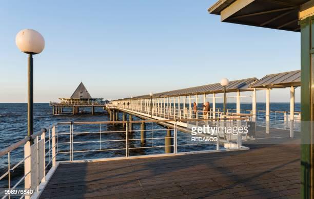 The Pier German resort architecture in the seaside resort Heringsdorf on the island of Usedom EuropeGermany MecklenburgWestern Pomerania Usedom June
