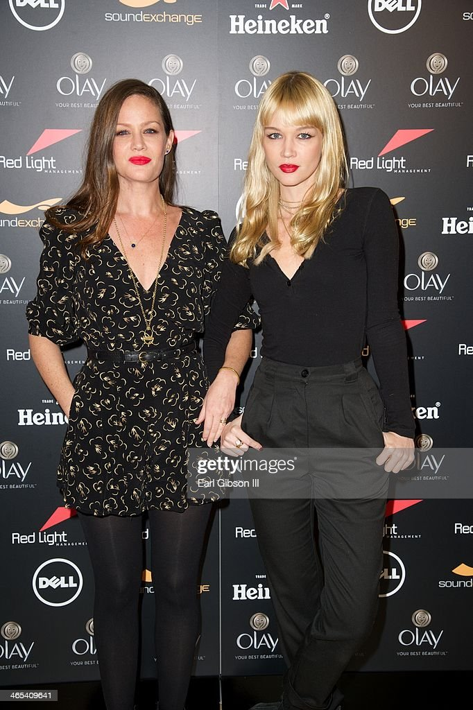 The Pierces (L-R) Alison and Catherine Pierce attend The Grammy Awards Red Light Management After Party at Sky Bar, Mondrian Hotel on January 26, 2014 in West Hollywood, California.