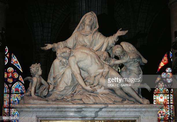The Pieta by Nicolas Coustoues choir in NotreDame cathedral Paris France