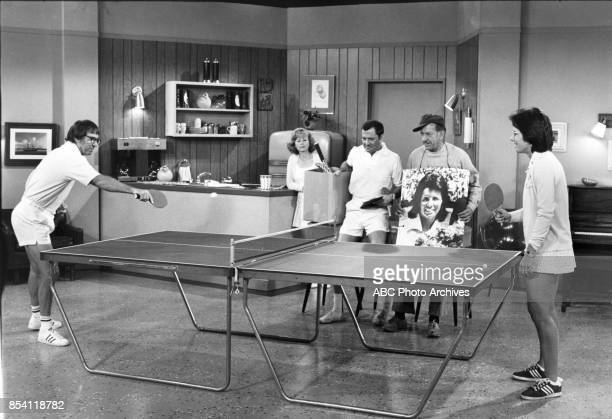 COUPLE 'The Pig Who Came to Dinner' Airdate November 16 1973 LR BOBBY RIGGSSANDRA GILESTONY RANDALLJACK KLUGMANBILLIE JEAN KING L photographer ABC...