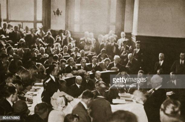 The 'PigWoman' testifies from a hospital bed in the HallMills Trial Somerville New Jersey USA 1926 The HallMills case related to the grusesome murder...