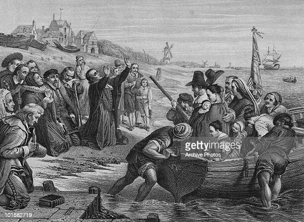 The Pilgrim Fathers leave Delfshaven in Rotterdam for America July 1620 They stopped off in England and made the rest of the voyage in the...