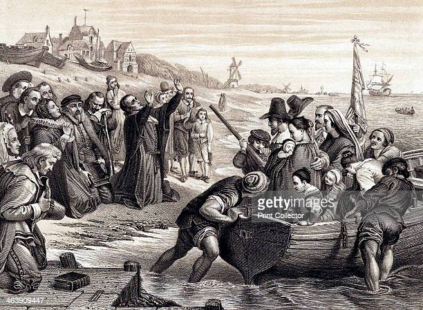The Pilgrim Fathers leaving Delft Haven on their voyage to America July 1620 The Pilgrim Fathers members of the English Separatist Church sect of...