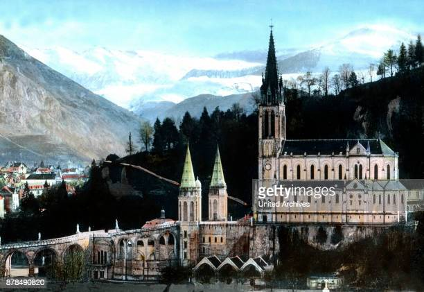 The pilgrimage church at Lourdes France