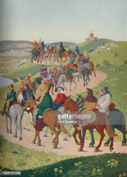 The Pilgrims Riding Towards Canterbury' 20th century illustration of a scene from Chaucer's 13thcentury The Canterbury Tales the 'gay pageant When...