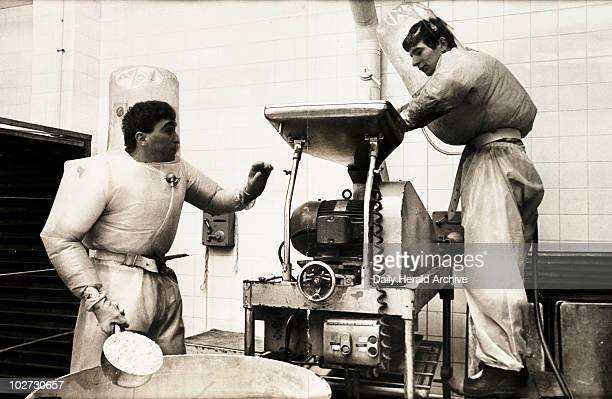 'The Pill' 1968 A photograph showing two workers in the wet granulating room at GD Searle's High Wycombe phamaceutical factory taken by Tony Eyles...