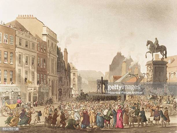 The Pillory by Thomas Rowlandson and Augustus Charles Pugin