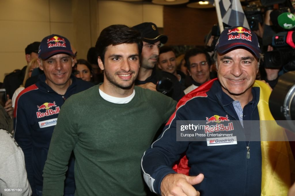 2018 Dakar Rally's Winner Carlos Sainz Arrives In Madrid