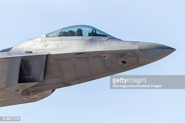 The pilot of a U.S. Air Force F-22A Raptor on a Red Flag mission in Nevada.