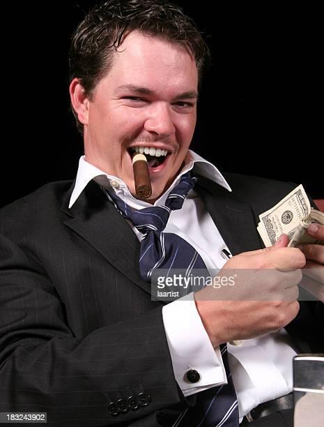 The pimp: flipping cash.