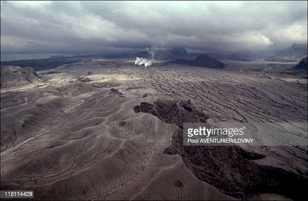 The Pinatubo volcano eruption in Philippines on August 02 1991 Mini eruptions of the Pinatubo
