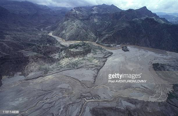 The Pinatubo volcano eruption in Philippines on August 02 1991 Mud flow