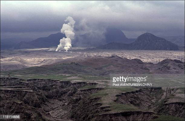 The Pinatubo volcano eruption in Philippines on August 02 1991