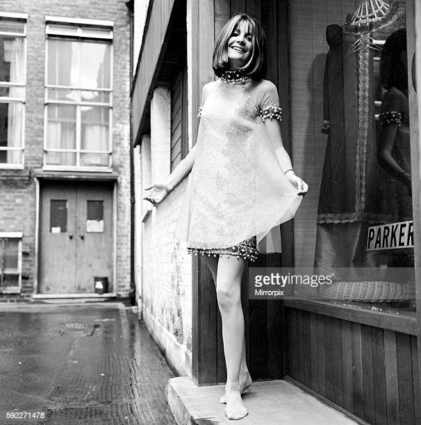 The pink dress consists of a beaded underdress and a chiffon overdress by Parker Costumier Ltd Horse and Dolphin Yard Macclesfield Street W1 London...