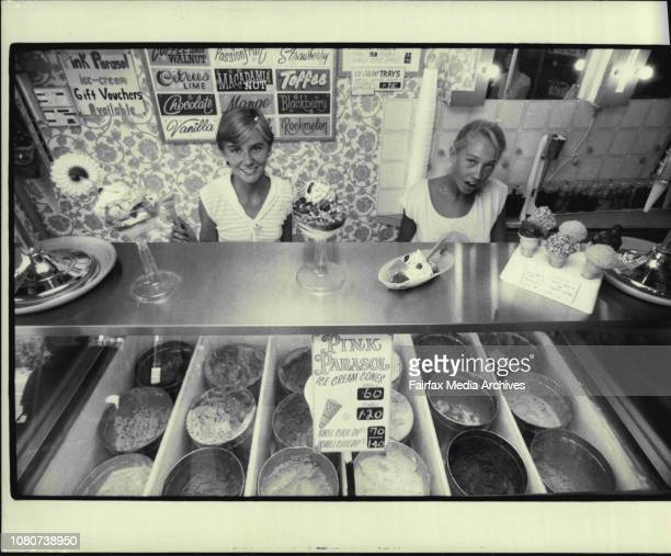 The Pink Parasol Ice Cream Parlour 2a Darley rd ManlySusan Parker 14 of Mackellar Girls High Melanie Booth 16 of Monte Girls High February 3 1983