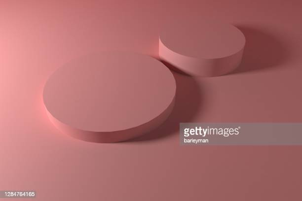 the pink three-dimensional product display space - awards ceremony stock pictures, royalty-free photos & images