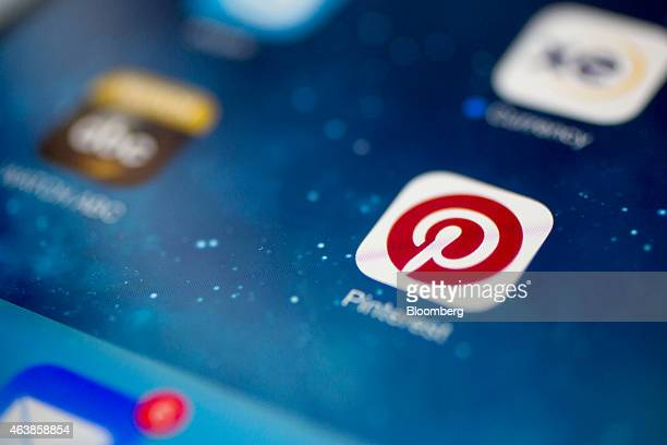 The Pinterest Inc application icon is displayed for a photograph on an Apple iPad Air in Washington DC US on Thursday Feb 19 2015 Pinterest Inc the...