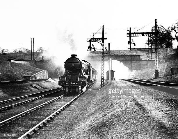 The pioneer GNR'Great Northern' steam locomotive Class A1 462 engine No 4470 emerging from Wood Green tunnel on a down express c1930 The first eleven...