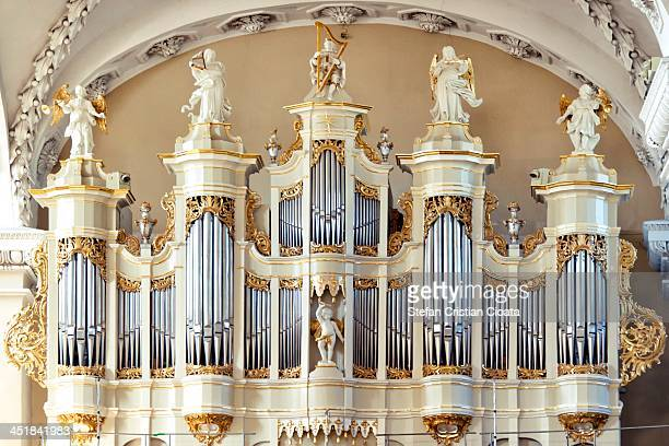 The pipe organ from the Cathedral of Vilnius, the main Roman Catholic Cathedral of Lithuania. The Cathedral is situated in Vilnius Old Town, just off...