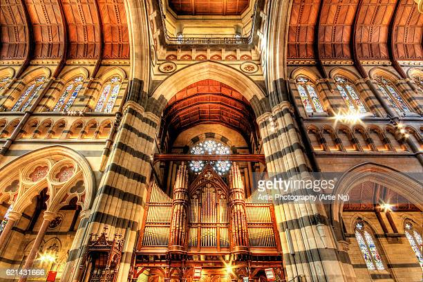 The Pipe Organ of St Paul's Cathedral in Melbourne, Victoria, Australia