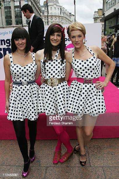 The Pipettes attends the UK premiere of ''Angus Thongs and Perfect Snogging'' at the Empire on July 16 2008 in London England