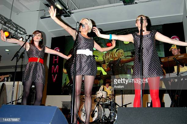 The Pipettes in concert performing live at HMV Oxford Street London on the 17th July 2006 Job 13210 Ref DDO