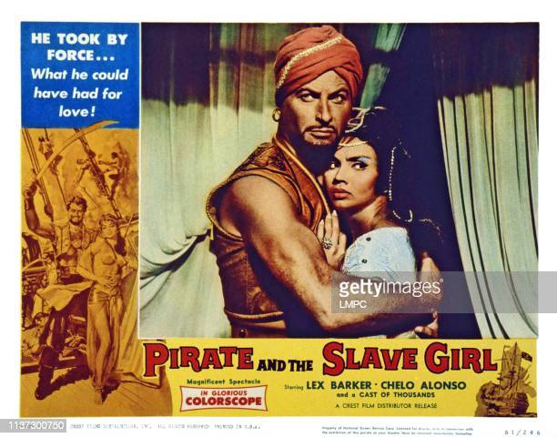 The Pirate And The Slave Girl US lobbycard from left Lex Barker Chelo Alonso 1959
