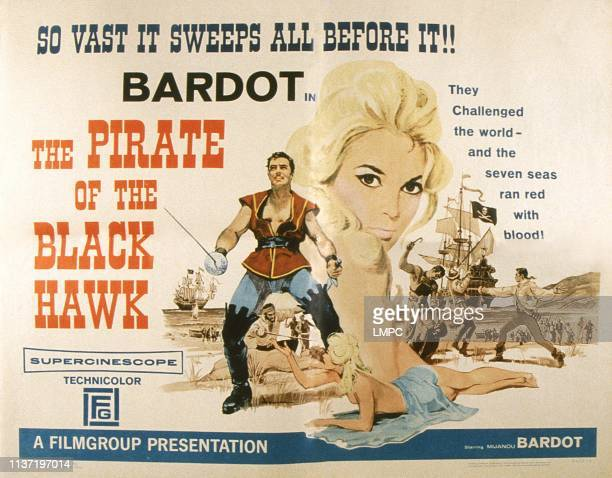 The Pirate Of The Black Hawk poster US poster from left Gerard Landry Mijanou Bardot 1958
