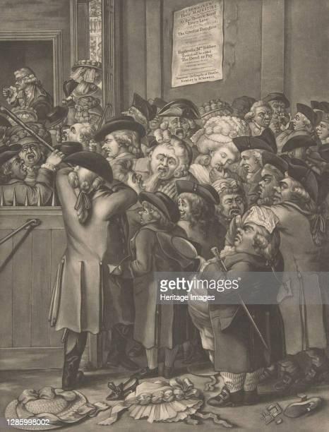 The Pit Door/ La Porte du Parterre, November 9, 1784. Artist After Robert Dighton the Elder.