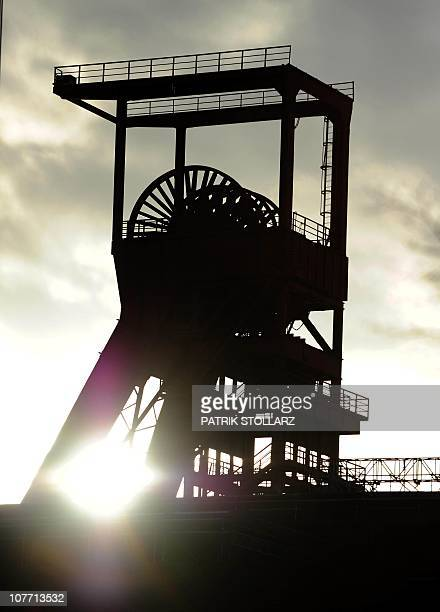 The pit head frame of the former Nordstern coal mine in Gelsenkirchen, western Germany, is pictured on December 9, 2010. The industrial heritage site...