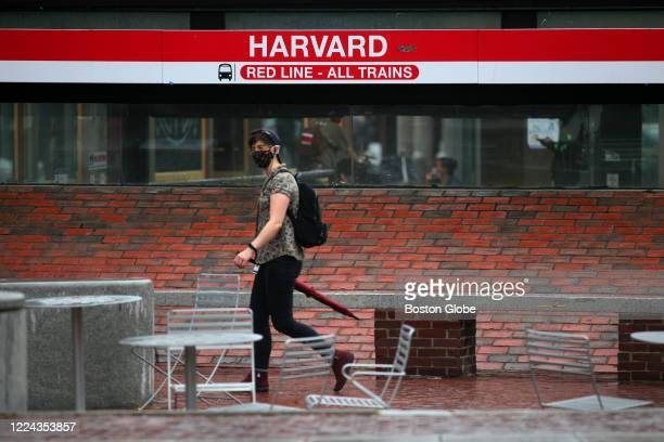 "The Pit"", home for years to people just hanging out, was mostly empty in the rain in Harvard Square in Cambridge, MA on June 30, 2020. The COVID-19..."