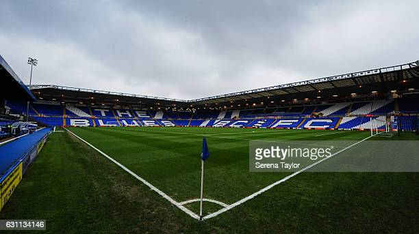 The pitch at StAndrew's home of Birmingham City football club during the The Emirates FA Cup Third Round between Birmingham City and Newcastle United...