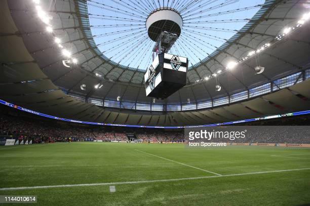 The pitch before the Vancouver Whitecaps match against the Portland Timbers during at BC Place on May 10, 2019 in Vancouver, Canada.