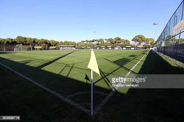 The pitch during a training session at day 2 of Borussia Moenchengladbach training camp on January 08 2016 in Belek Turkey
