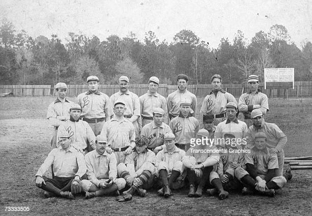 PITTSBURGH MARCH 1900 The Pittsburgh Pirates pose for a team photo during spring training in March of 1900 in Hot Springs Arkansas