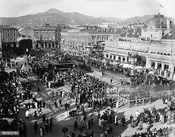 The Place Massena during the Carnival in 1928 in Nice France
